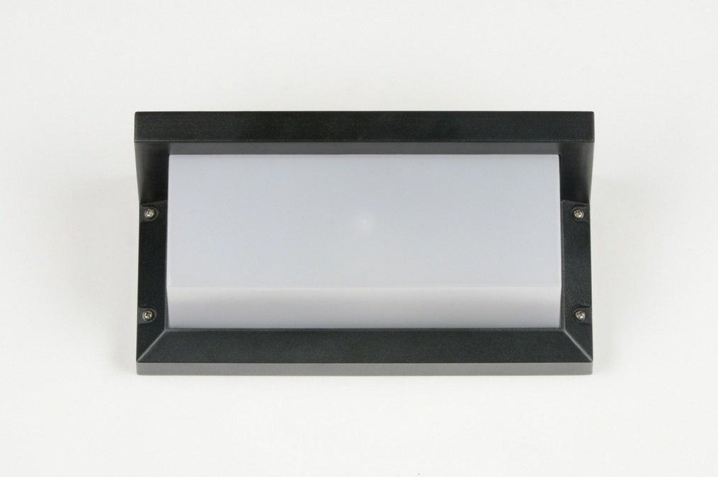 applique murale 30265 moderne noir mat plastique. Black Bedroom Furniture Sets. Home Design Ideas