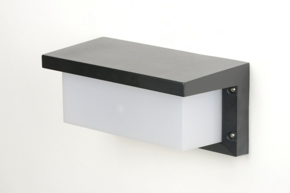 Applique Murale 30265: Moderne, Noir, Mat, Plastique