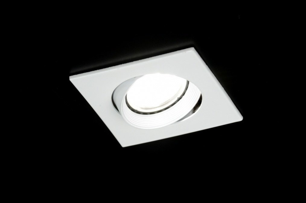 Recessed spotlight 30294: modern, metal, white, gloss #0
