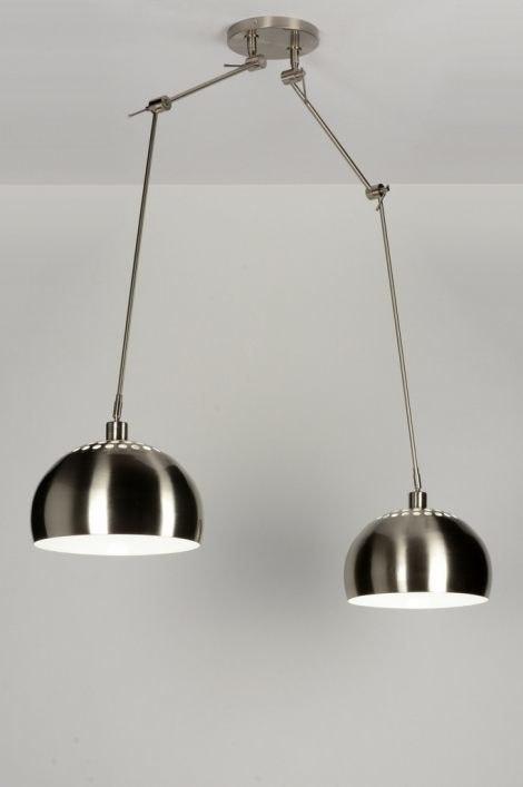 Hanglamp 30306: modern, retro, staalgrijs, metaal #0