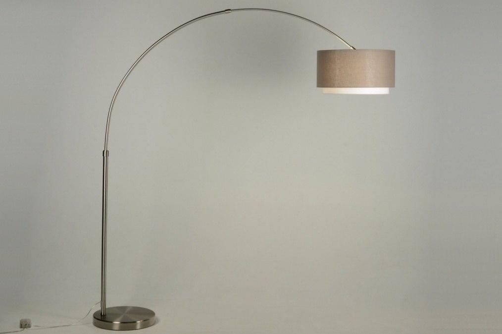 floor lamp 30325 modern designer steel stainless steel. Black Bedroom Furniture Sets. Home Design Ideas