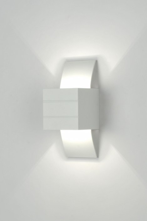 Wandlamp 30335: modern, design, wit, aluminium #0