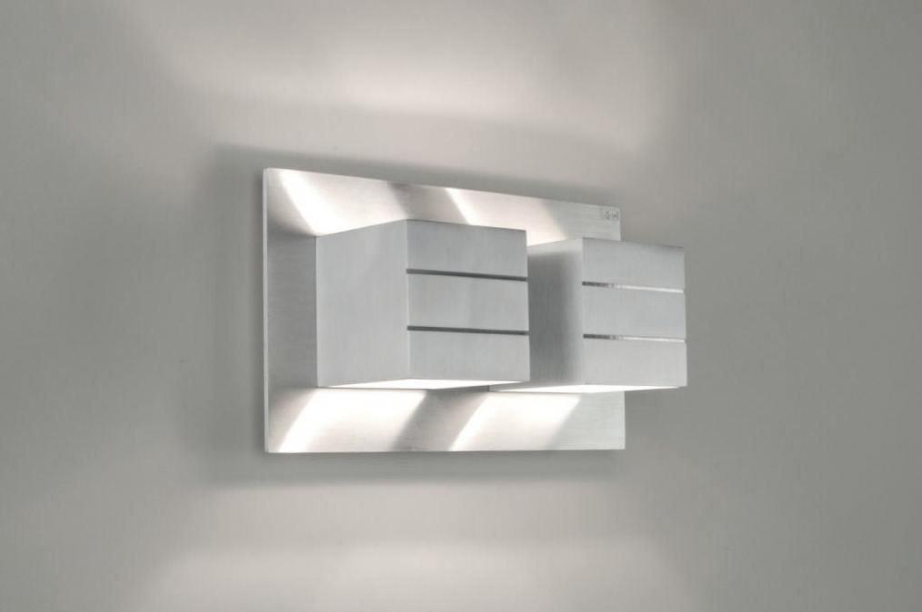 Applique murale 30338: moderne, design, aluminium, rectangulaire