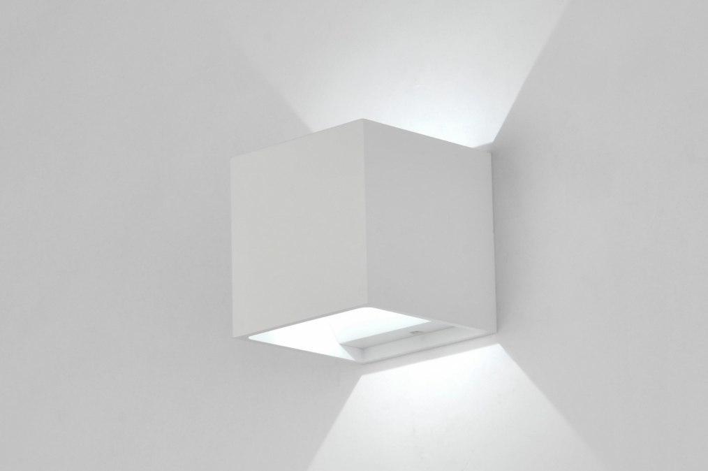 Wandlamp 30352: modern, design, wit, mat #0