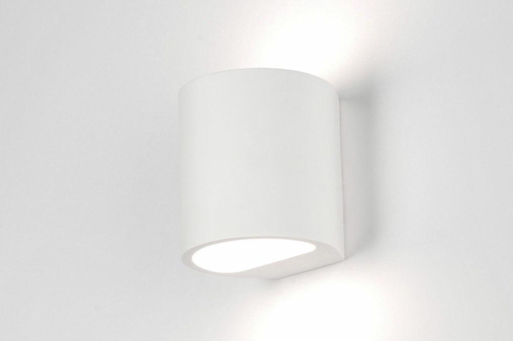 Wandlamp 30356: modern, landelijk, rustiek, wit #0
