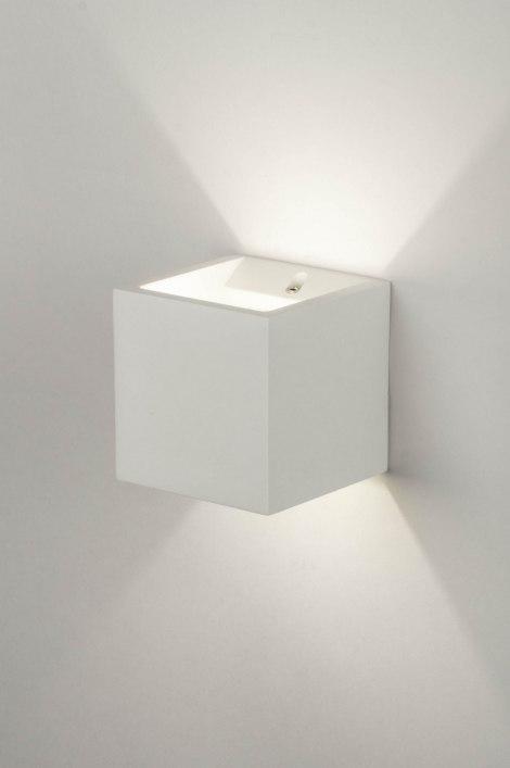 wandleuchte 30358 modern laendlich rustikal weiss matt. Black Bedroom Furniture Sets. Home Design Ideas