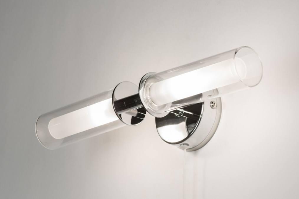 Wasserdichte Leuchte Dusche : Wandleuchte 30362: Modern, Glas, Klares Glas, Mattes Glas