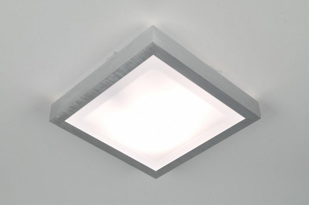 Plafondlamp 30367: modern, aluminium, wit, aluminium #0
