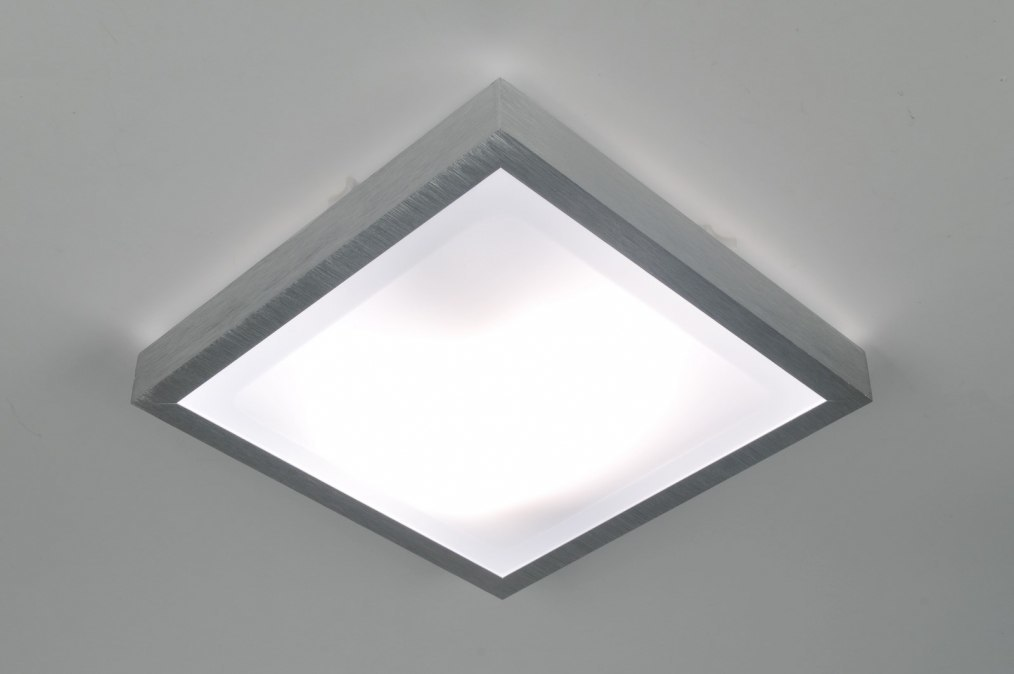 Plafondlamp 30368: modern, aluminium, kunststof, wit #0