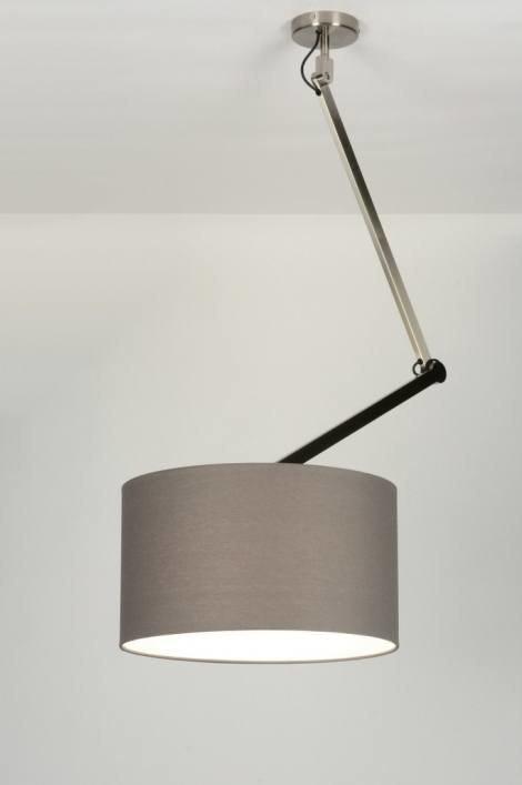 Hanglamp 30443: modern, landelijk, rustiek, grijs #0