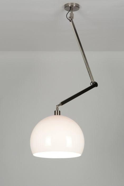 Hanglamp 30445: modern, wit, kunststof, langwerpig #0