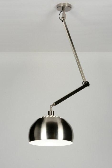 Hanglamp 30446: modern, staalgrijs, metaal, staal rvs #0