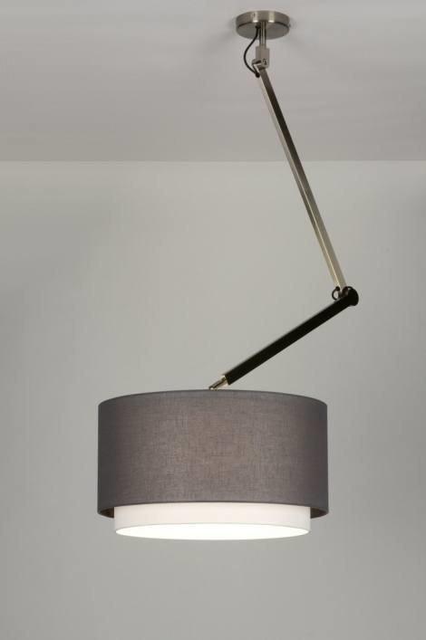 Hanglamp 30449: modern, landelijk, rustiek, grijs #0