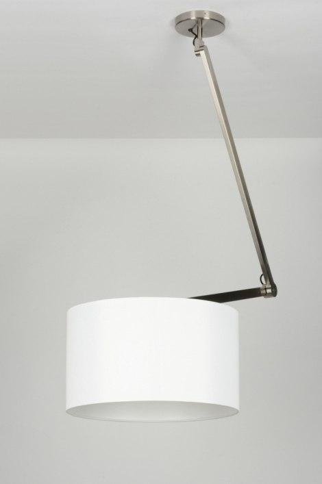 pendelleuchte 30452 modern design weiss stoff. Black Bedroom Furniture Sets. Home Design Ideas