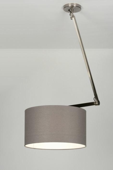 Hanglamp 30453: modern, landelijk, rustiek, grijs #0