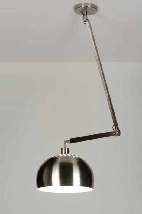Hanglamp 30456: modern, landelijk, rustiek, staalgrijs #0
