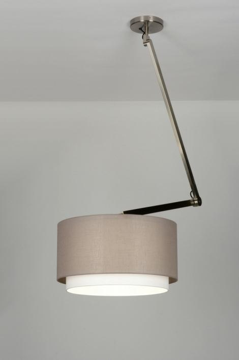 Hanglamp 30457: modern, landelijk, rustiek, taupe #0