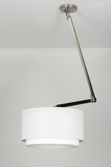 pendelleuchte 30458 modern design weiss stoff. Black Bedroom Furniture Sets. Home Design Ideas
