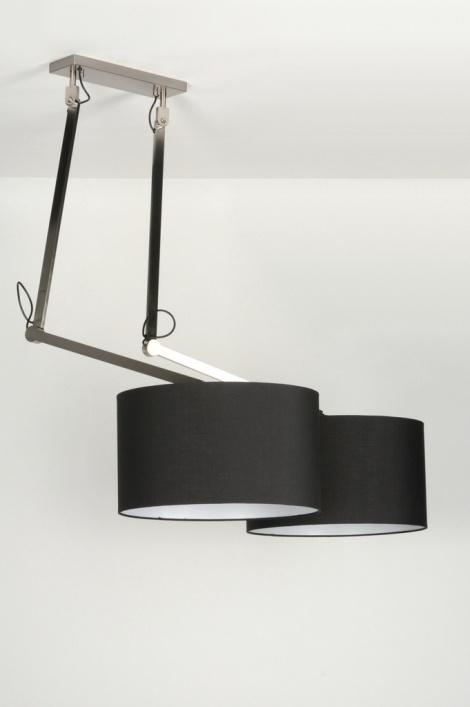 pendelleuchte 30502 modern design schwarz stoff. Black Bedroom Furniture Sets. Home Design Ideas