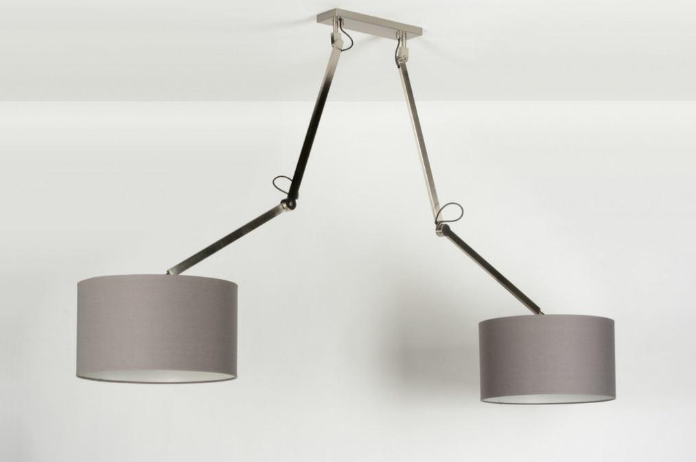 pendelleuchte 30504 modern laendlich rustikal design grau. Black Bedroom Furniture Sets. Home Design Ideas