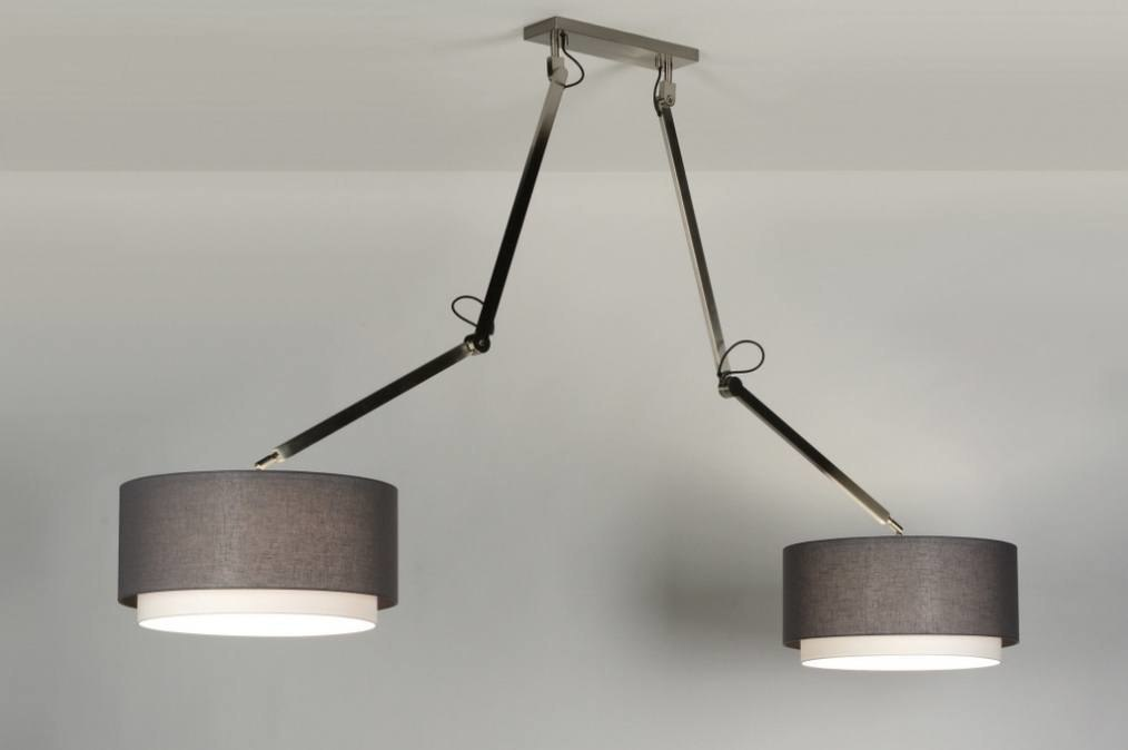 Hanglamp 30510: modern, landelijk, rustiek, grijs #0