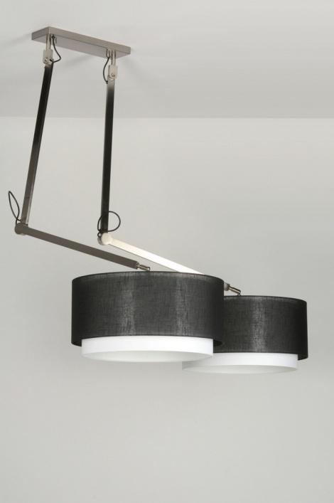 pendelleuchte 30511 modern design schwarz stoff. Black Bedroom Furniture Sets. Home Design Ideas