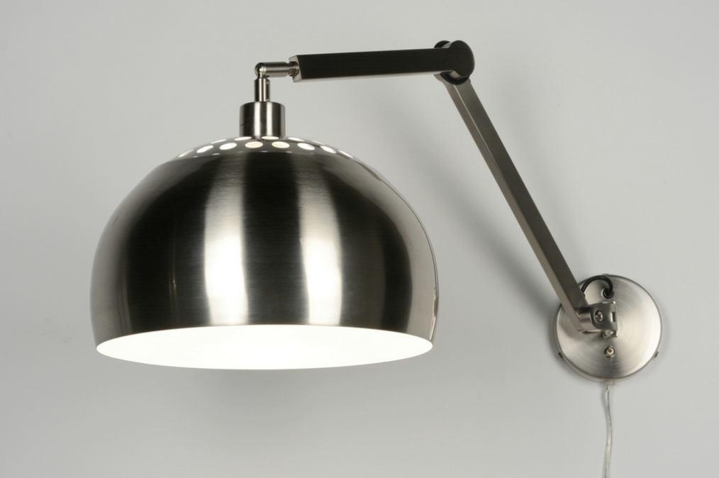 applique murale 30518 moderne acier acier poli. Black Bedroom Furniture Sets. Home Design Ideas