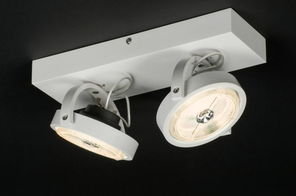 Plafondlamp 30534: modern, design, wit, mat #0
