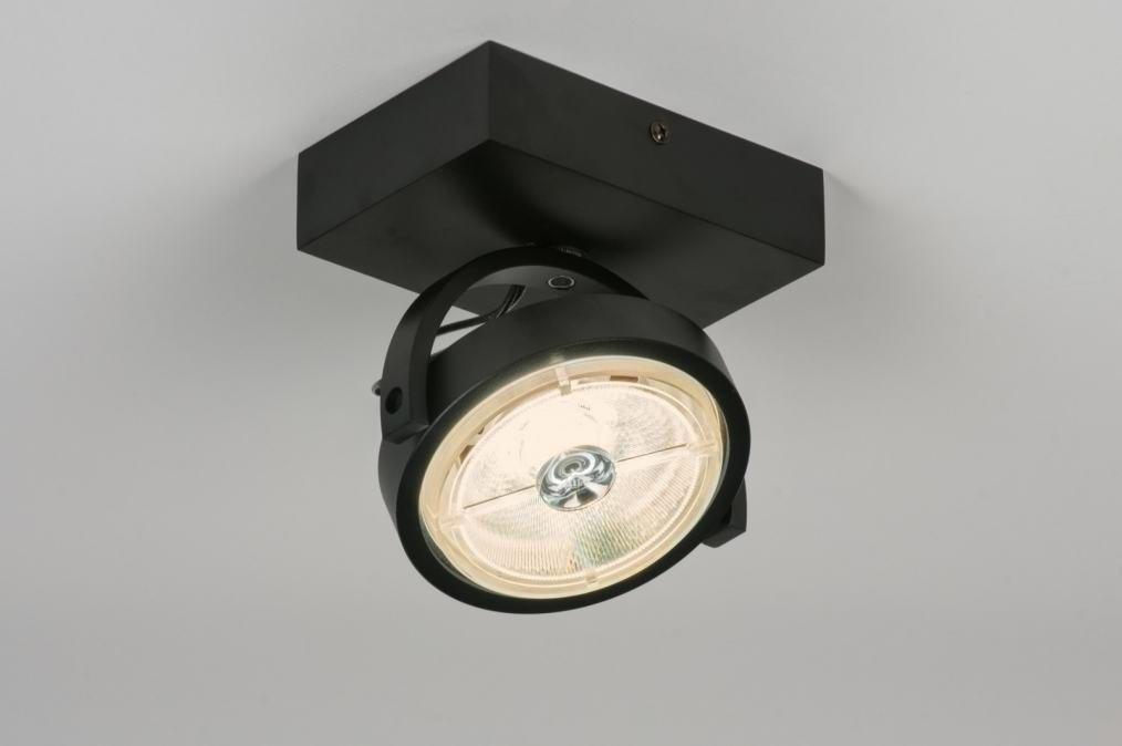 Plafondlamp 30539: modern, design, zwart, mat #0