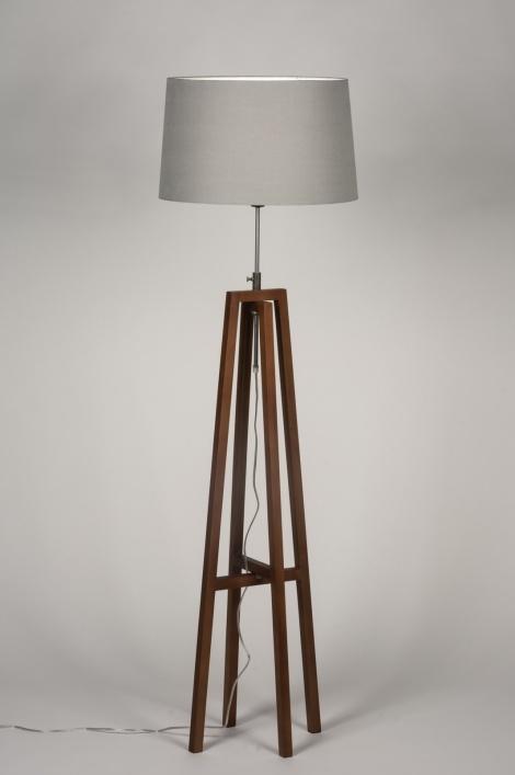 stehleuchte 30549 modern retro holz dunkeles holz. Black Bedroom Furniture Sets. Home Design Ideas