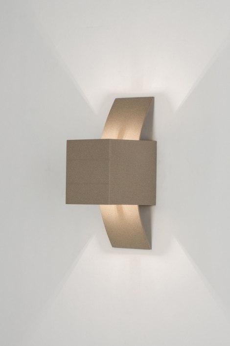 Wandlamp 30557: modern, design, taupe, aluminium #0