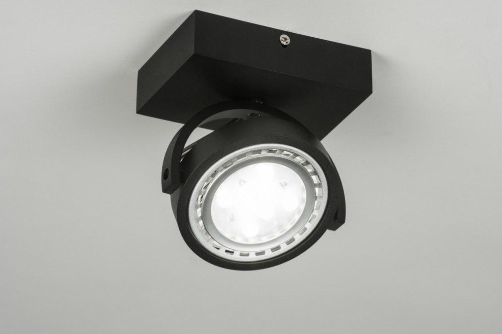Spot 30598: design, modern, aluminium, zwart #0