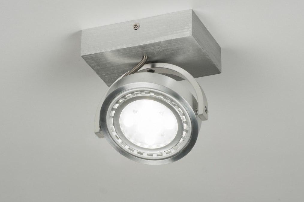 Plafondlamp 30603: modern, design, aluminium, rond #0