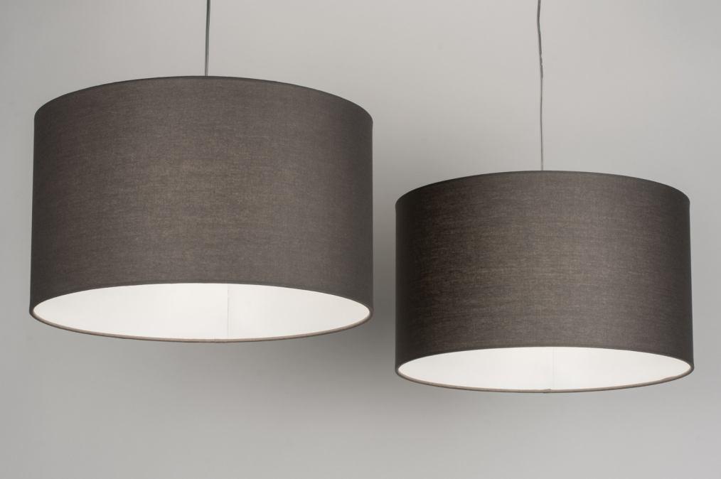 Hanglamp 30628 modern eigentijds klassiek landelijk rustiek grijs - Eigentijds huis grijs ...