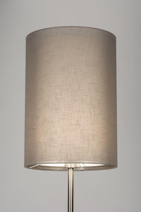 Vloerlamp 30633: landelijk, rustiek, modern, staal rvs #0
