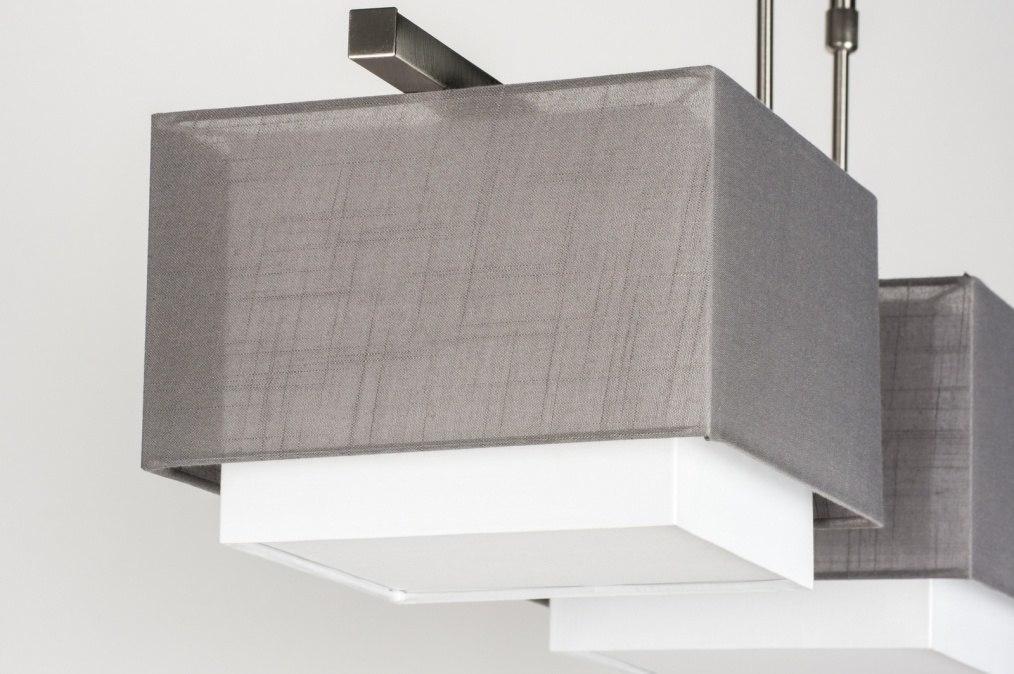 pendelleuchte 30655 modern anthrazit grau stoff. Black Bedroom Furniture Sets. Home Design Ideas