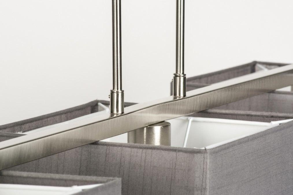 pendelleuchte 30655 laendlich rustikal modern stoff grau. Black Bedroom Furniture Sets. Home Design Ideas