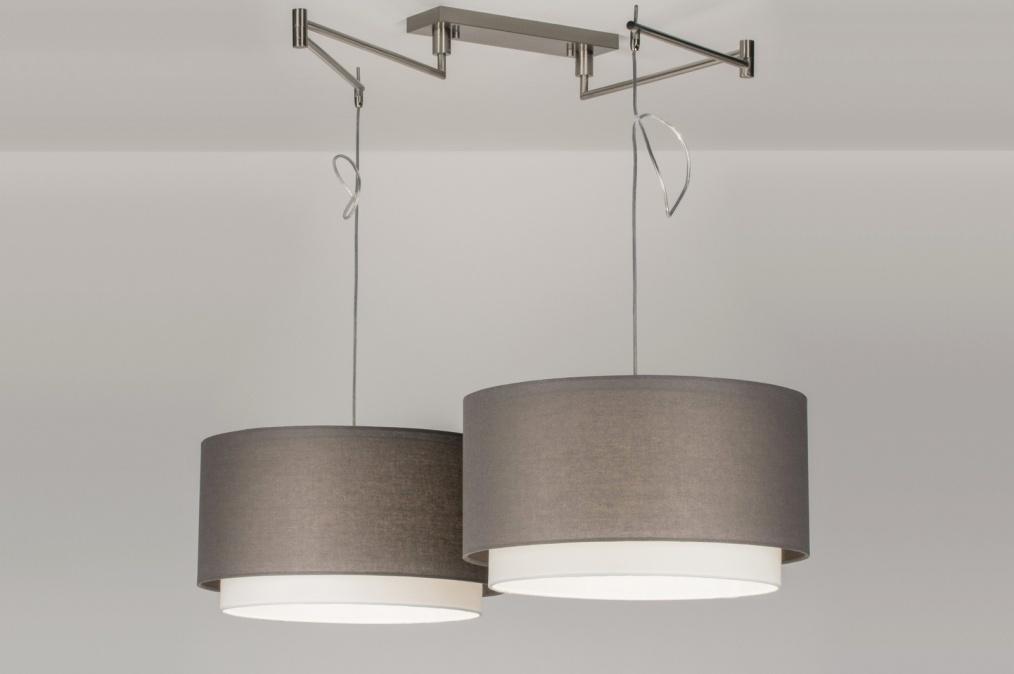 Hanglamp 30674 modern eigentijds klassiek landelijk rustiek grijs - Eigentijds huis grijs ...