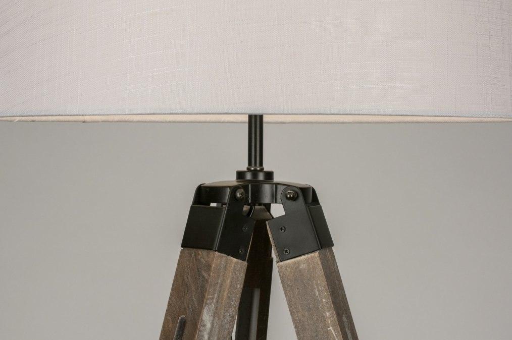 Vloerlamp Hout Landelijk : Vloerlamp industrie look landelijk rustiek
