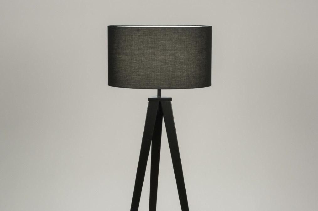 Vloerlamp 30695: modern, design, zwart, metaal #0