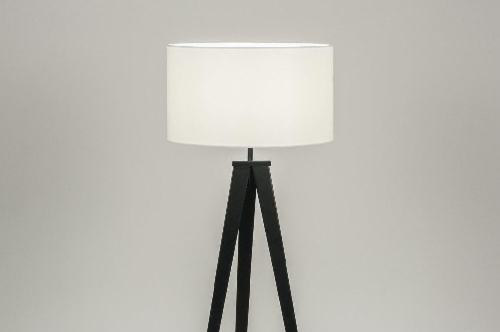 Vloerlamp 30696: modern, design, wit, zwart #0