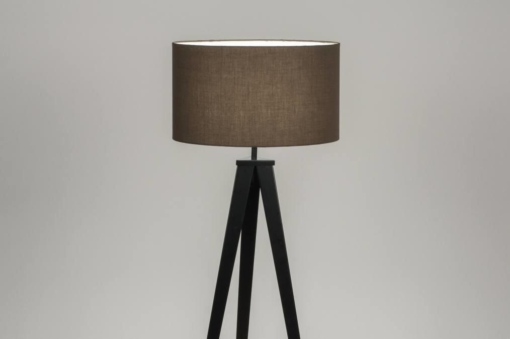 Staande lamp design modern stof metaal