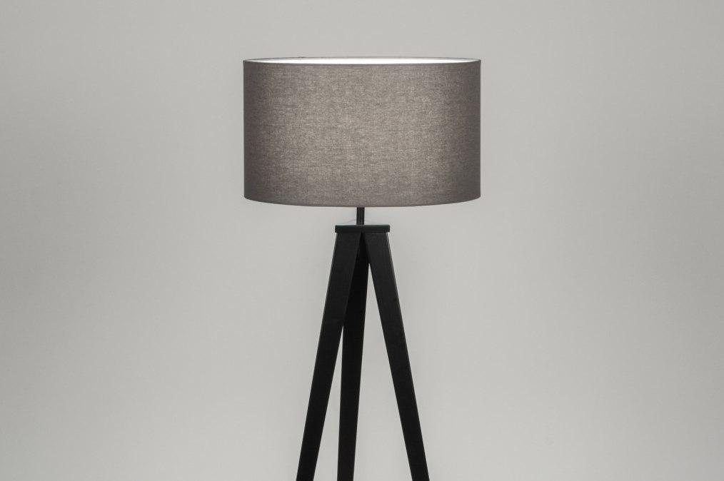 Vloerlamp 30698: modern, design, grijs, zwart #0