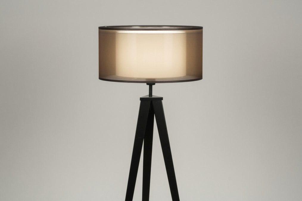 Staande lamp modern design bruin zwart