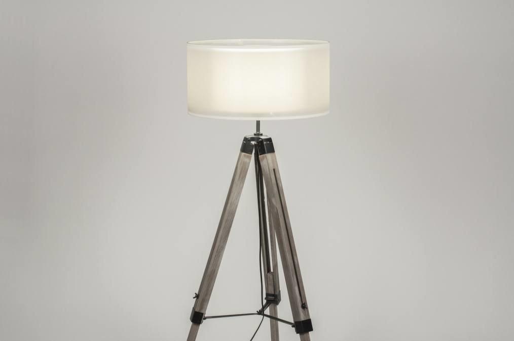 Staande Lamp Landelijk : Staande lamp landelijk rustiek modern stoere lampen hout