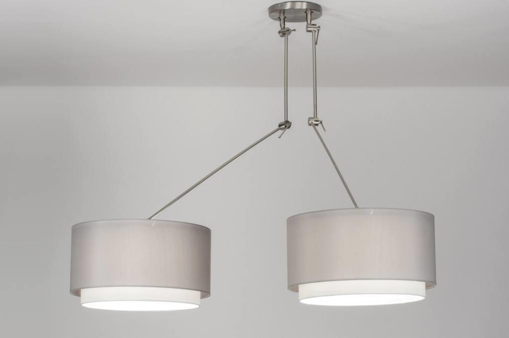 Hanglamp 30722: landelijk, rustiek, modern, staal rvs #0
