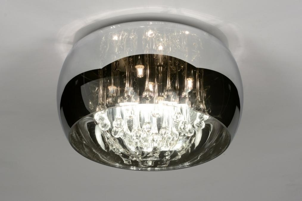 Ceiling lamp 30730: rustic, modern, glass, crystal #0