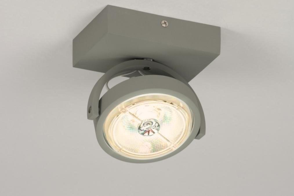 Plafondlamp 30734: modern, design, betongrijs, grijs #0