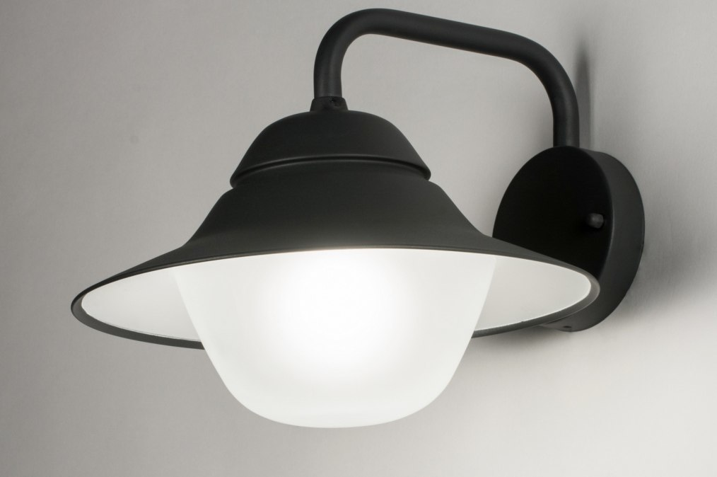 Wandlamp 30758: modern, glas, aluminium, zwart #0