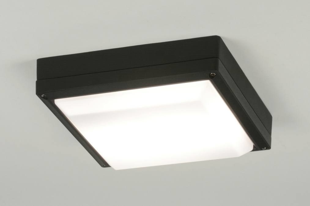 Plafondlamp 30762: modern, zwart, aluminium, kunststof #0